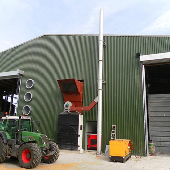 Perry of Oakley biomass heated drier Balbirnie
