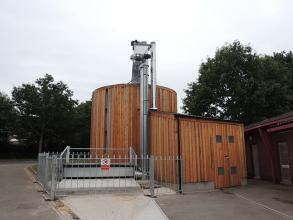 Perry of Oakley aptional cladding biomass bin storage