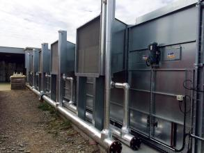 Perry of Oakley unenclosed drier heat exchangers